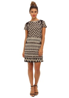 Nicole Miller Temple Ikat Short Sleeve Dress