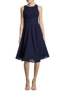 Nicole Miller New York Textured Crisscross-Back Dress