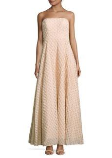Nicole Miller New York Textured Straight-Across Gown