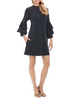 Tiered-Sleeve Shift Dress