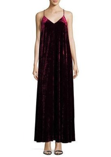 Nicole Miller Velvet V-Neck Maxi Dress