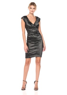 Nicole Miller Women's Beckett Techno Metal Dress