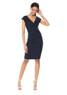 Nicole Miller Women's Blue Leopard Beckett Dress