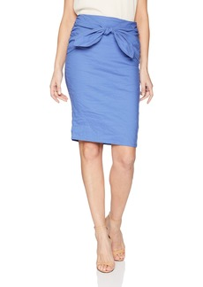 Nicole Miller Women's Brandi Cotton Metal Skirt