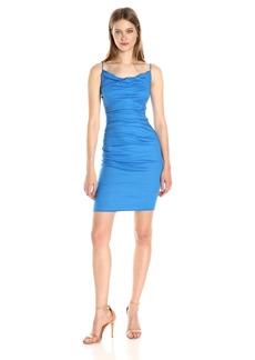 Nicole Miller Women's Carly Cotton Metal Dress Maldives Blue/MARL