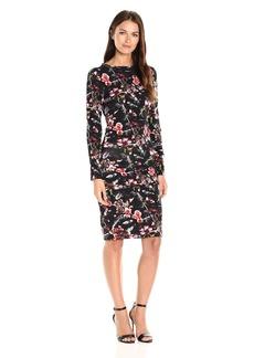 Nicole Miller Women's Christina Almond Blossom Ls Tuck Dress  P