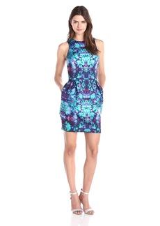 Nicole Miller Women's Cornflower Neoprene Tulip Dress