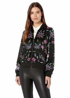 Nicole Miller Women's Dahlia Sequin Bomber Jacket  S