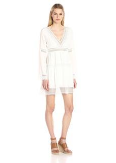 Nicole Miller Women's Deep V Dress  L