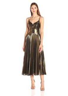 Nicole Miller Women's Disco Lame Starburst Pleated Dress