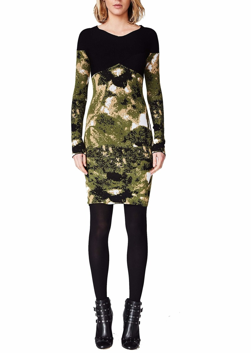 Nicole Miller Camo Double Knit Dress