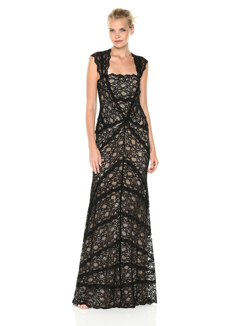 Nicole Miller Women's eva Gown Stretch Lace