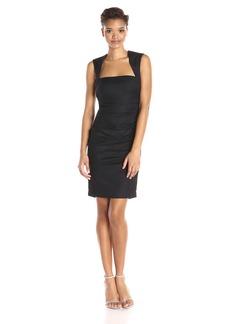 Nicole Miller Women's Felicity Stretch Linen Dress
