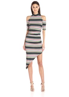 Nicole Miller Women's Festival Stripe Asymmetrical Dress  M