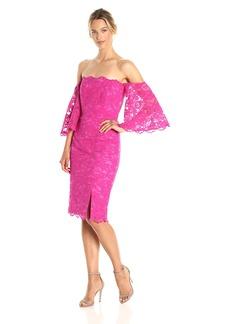 Nicole Miller Women's Floral Lace Off Shoulder Dress