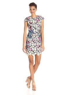 Nicole Miller Women's Floral Venice Capsleeve Dress