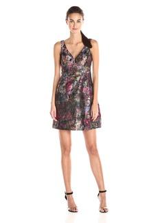 Nicole Miller Women's Flower Garden Jacquard Dress