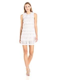 Nicole Miller Women's Fringe Dot Sleeveless Mini Dress White/Blush/WBH