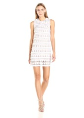Nicole Miller Women's Fringe Dot Sleeveless Mini Dress