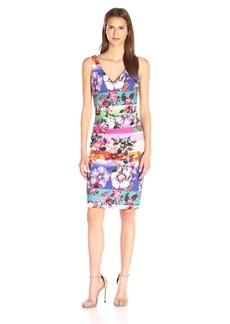 Nicole Miller Women's Garden Stripe Cotton Metal Dress