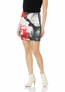 Nicole Miller Women's Giant Garden Mini Skirt