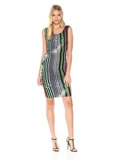 Nicole Miller Women's Gypsy Grunge Lauren Striped Jersey Dress Multi P