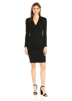 """Nicole Miller Women's """"Hadley Long Sleeve"""" Ponte Dress"""