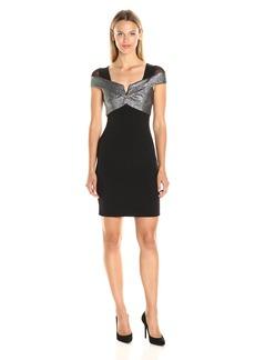 Nicole Miller Women's Jacquard Sparkle Dot Combo Dress