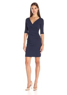 Nicole Miller Women's Jersey 3/4 Sleeve Tuck Dress  M