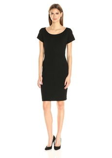 Nicole Miller Women's Karina Ponte Boat Neck Dress