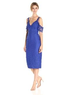 Nicole Miller Women's Lace Combos Cold Shoulder Dress