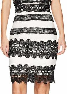 Nicole Miller Women's Lace Combos Mini Dress