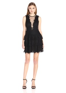Nicole Miller Women's Lace Illusin Dress