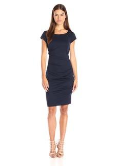 Nicole Miller Women's Lauren Scoop Ponte Dress  S