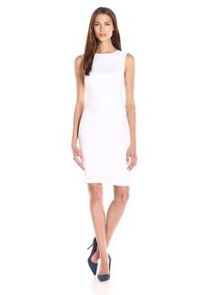 Nicole Miller Women's lauren Stretch Linen Dress Dress white