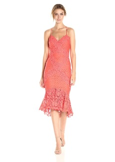 Nicole Miller Women's Leila Lace Combos X Back Dress