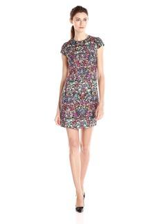 Nicole Miller Women's Luxuriant Tweed Capsleeve Dress