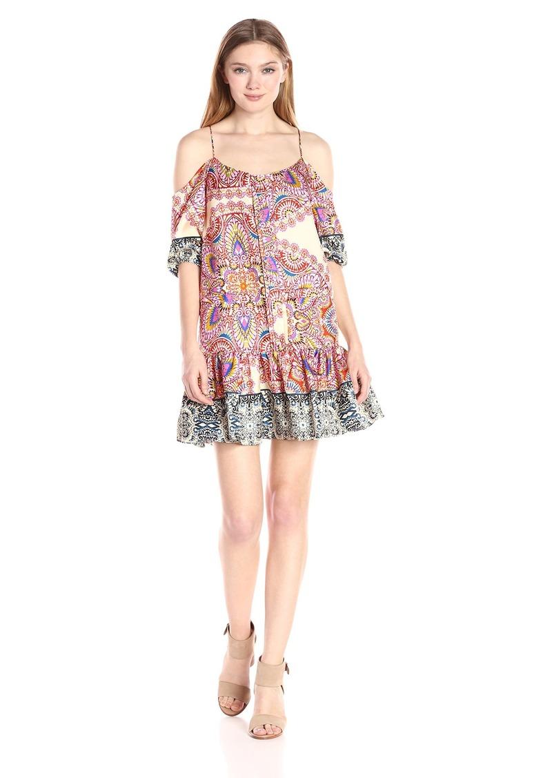 Nicole Miller Women's Mandala Paradise Cold Shoulder Dress Multi