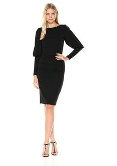 Nicole Miller Women's Matte Jersey Puff Sleeve Dress  S