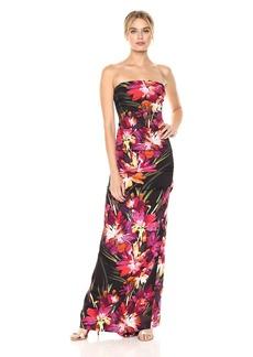 Nicole Miller Women's Midnight Garden Felicity Strapless Gown
