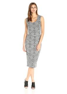 Nicole Miller Women's Mola Maze Demi Length Dress