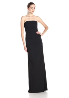 Nicole Miller Women's Nicole Miller's Felicity Techy Crepe Strapless Gown Dress -black