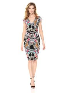 Nicole Miller Women's Paisley Mash Beckett Wrap Dress  M