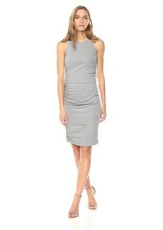 Nicole Miller Women's Pencil Stripe Drawstring Dress  S