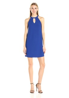 Nicole Miller Women's Poly Crepe Keyhole Dress