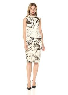 Nicole Miller Women's Safari Jacket High Neck Dress