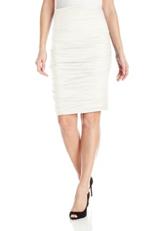 Nicole Miller Women's Sandy Cotton Metal Skirt
