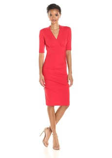 Nicole Miller Women's Solid Ponte Dress  M