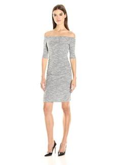 Nicole Miller Women's Sparkle Knit Combo Dress  S