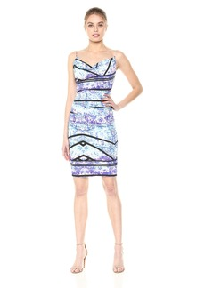 Nicole Miller Women's Stamped Paisleys Carly Tuck Dress